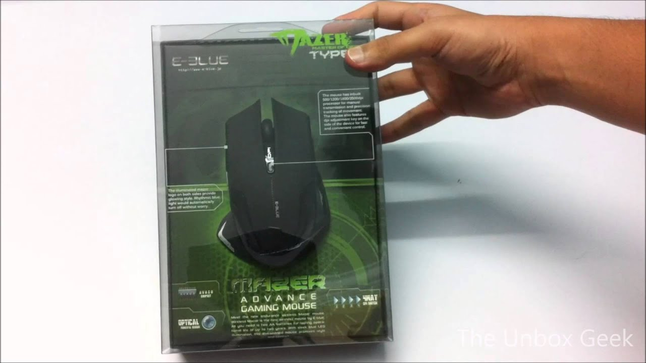 3be2626675f E-Blue Mazer R Wireless Gaming Mouse Unboxing And Overview (INDIA ...