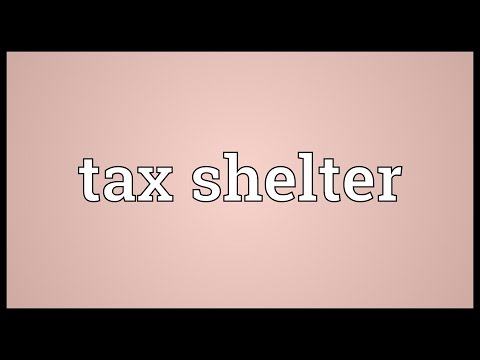Tax shelter Meaning