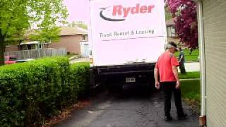 how to back in a moving truck