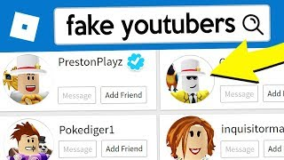 How To Spot FAKE YouTubers in Roblox!