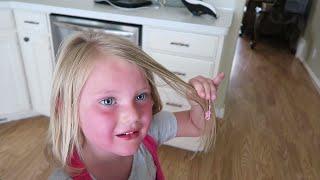 HAIR DISASTER?! | GUM IN HER HAIR!