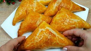 Хачапури из слоеного теста с сыром Как Приготовить Грузинские Пеновани Пошаговый Рецепт