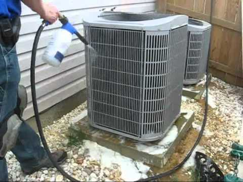 How To Clean A Heat Pump S Coils Youtube
