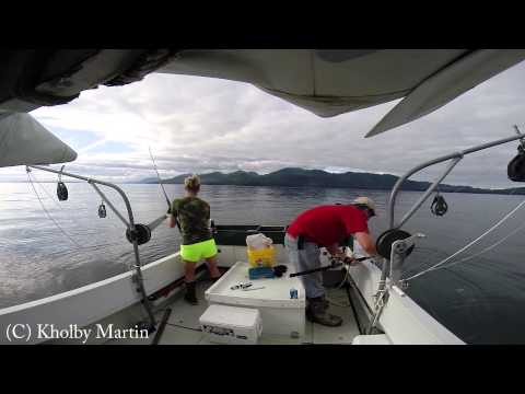 Halibut Fishing near Juneau, Alaska on July 10th, 2014