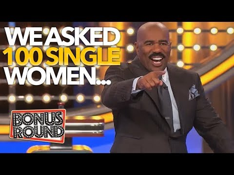 Steve Harvey Asks 100 SINGLE WOMEN Check Out These Answers On Family Feud USA!