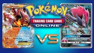 Volcanion EX vs Zoroark GX / Lycanroc GX - Pokemon TCG Online Gameplay