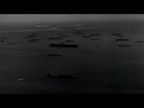 Ulithi Atoll Anchorage Aerial Views of US Navy 5th Fleet at Anchor