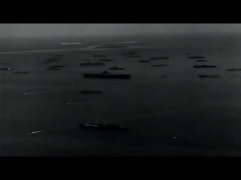 Ulithi Atoll Anchorage Aerial Views of US Navy 5th Fleet at Anchor