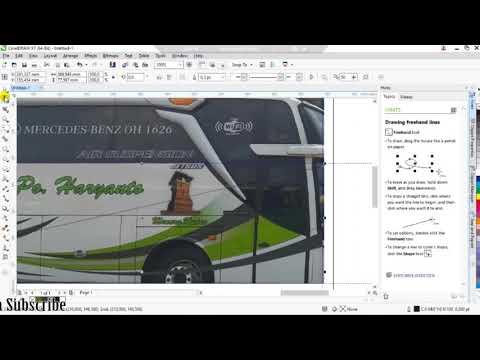 Membuat Livery Bus Menggunakan CorelDRAW X7 L Gradasi