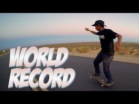 WORLD RECORD LONGEST SKATEBOARD MANUAL  !!!