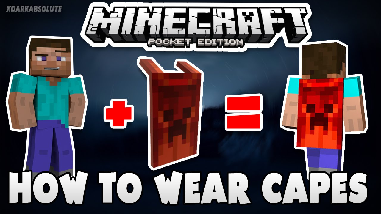 How To Wear Capes In Minecraft PE 11.11.11 (Pocket Edition)