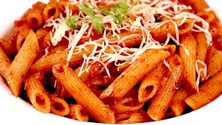 pasta in red sauce indian style