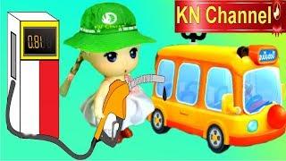 Trò chơi KN Channel BÉ TẬP LÀM LƠ XE TÀI XẾ ĐỔ XĂNG VỚI BÚP BÊ tập 1