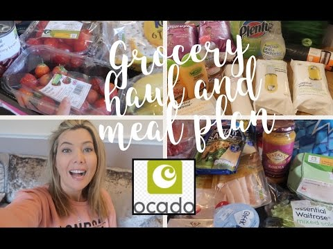 GROCERY HAUL AND MEAL PLAN   OCADO