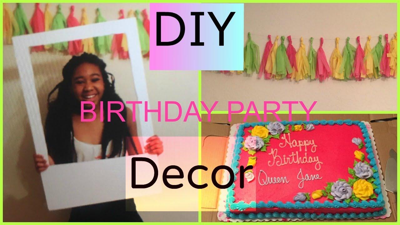 Diy Birthday Decorations Diy Birthday Decor Youtube