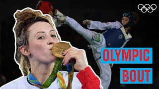 Jade Jones' 🇬🇧 first Olympic bout! 🥋
