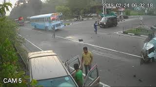 Accident Kegalle (CCTV Record By Gils Techno Solution(Pvt)Ltd.2019.02.24