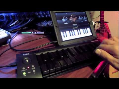korg microkey 25 demo with ipad igrand all black keys youtube. Black Bedroom Furniture Sets. Home Design Ideas