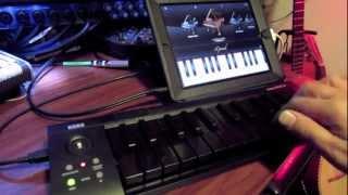 Korg MicroKey 25 demo with iPad iGrand all Black Keys