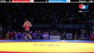 1ST PLACE: 70 KG Mostafa Hosseinkhani (Iran) vs. Khetik Tsabolov (Russia)