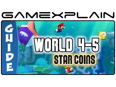 New Super Mario Bros 2 Level 4 5 Star Coin Guide Walkthrough