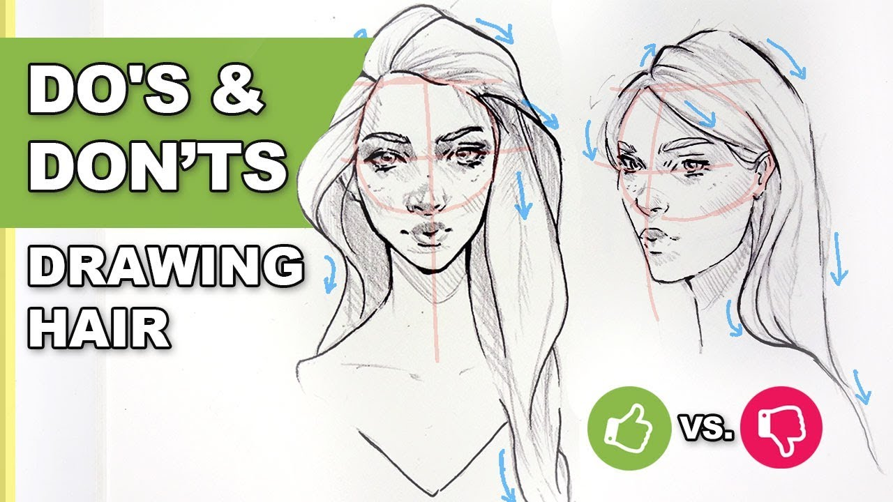 Do S Don T How To Draw Hair Easy Art Drawing Tutorial For