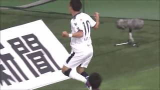 左からのクロスに水沼 宏太(C大阪)が右足をボレーで振り抜き、今季初...