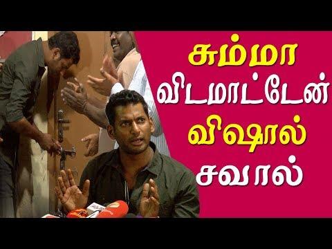 jk rithesh vs vishal vishal challenge jk rithesh team tamil news live