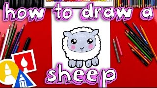 How To Draw A Cartoon Sheep