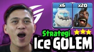 Gambar cover Pake ICE GOLEM Base Rumit Pun Diratakan | Mantap Troops Baru Clash Of Clans indonesia