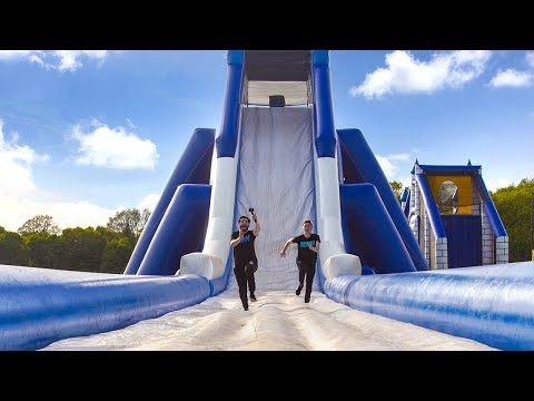 INSANE INFLATABLE OBSTACLE COURSE!!!