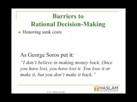 Session 20 Rational Decision Making