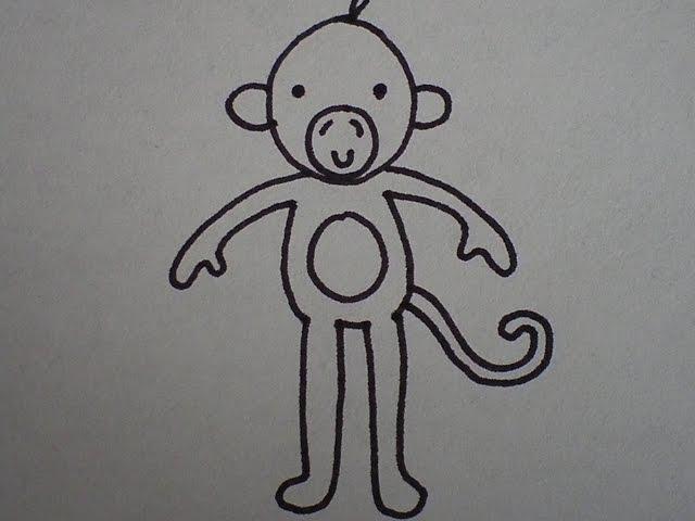 hoe teken je een aap (makkelijk) (how to draw a monkey) - youtube