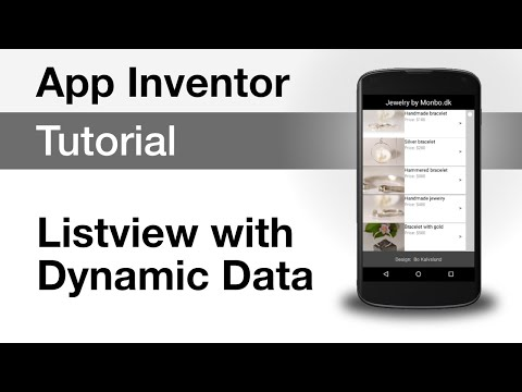 App Inventor 2 - Listview with dynamic data