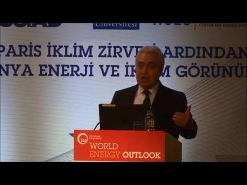 World Energy Outlook 2015 Turkey/ Presentation by Dr. Fatih Birol