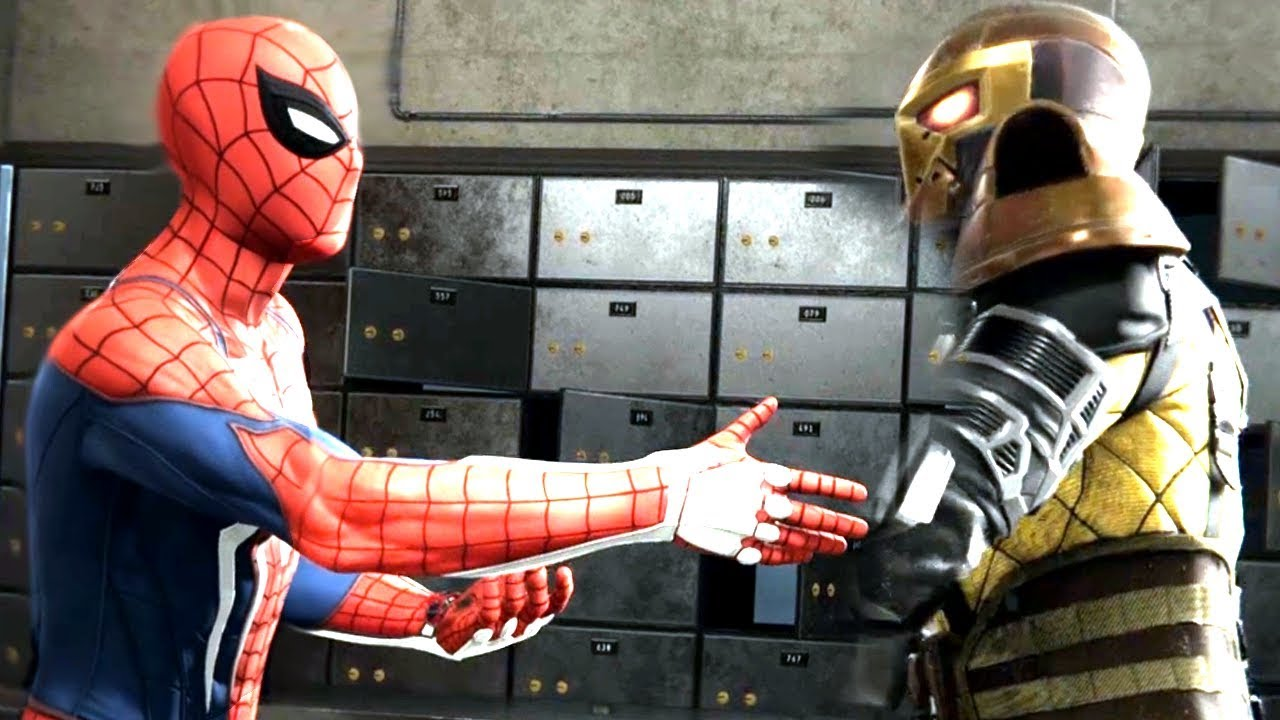 Spider-Man Tries To Thumb Wrestle The Shocker In Spider Man PS4 Walkthrough Part 6 - Boss Battle