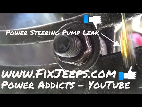 Jeep Wrangler YJ - Gets a power steering pump Part 1 🙄