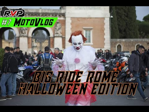 #7 MotoVlog | MEGA RADUNO A ROMA! | BIG RIDE ROME HALLOWEEN EDITION 2017!👻