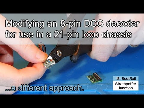 11 Modifying an 8-Pin DCC Deocder with a TCS 21-Pin Breakout Adaptor