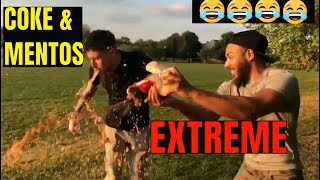 EXTREME COKE AND MENTOS EXPERIMENT/CHALLENGE 2018!!!!!