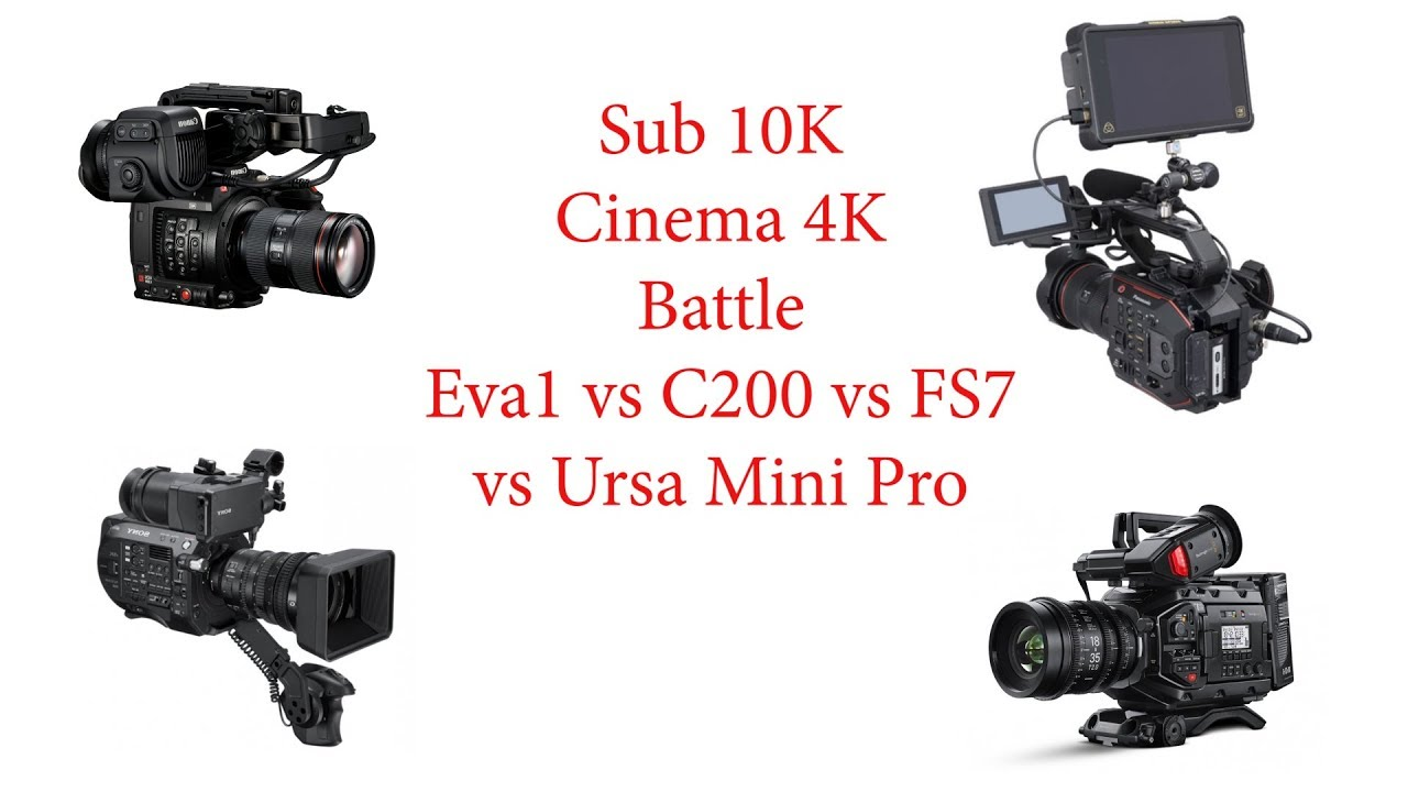 Sub 10K Battle: How does the EVA 1 match up against the C200, FS7 and Ursa  Mini Pro