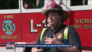 Other fire departments temporarily take over duties for Sun Prairie