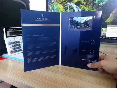 lcd video brochure for Maserati,TV in a card for advertising - YouTube