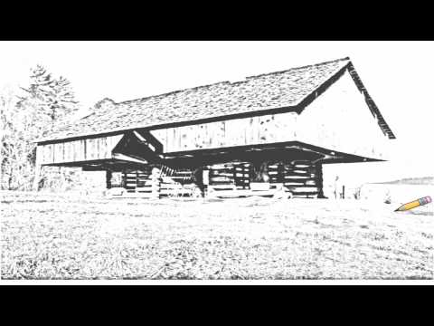 auto-draw-2:-cantilever-barn,-great-smoky-mountains-national-park,-tennessee
