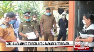 Self-Quarantined Tourists Get Clearance Certificates (English)