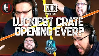 LUCKIEST CRATE OPENING IN PUBG MOBILE HISTORY!!! INSANE ODDS!!!!