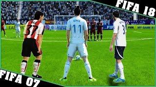 GARETH BALE free kicks evolution [FIFA 07 - FIFA 18]