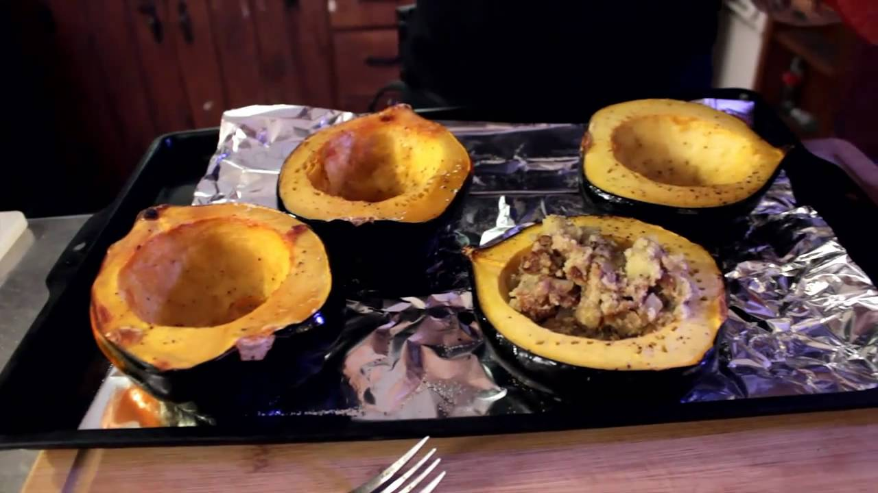 Stuffed acorn squash recipe the vegan zombie youtube forumfinder Images