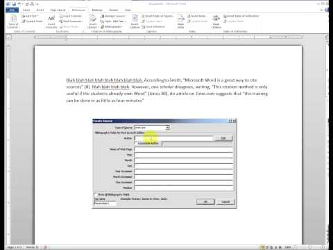 How to cite sources in microsoft word