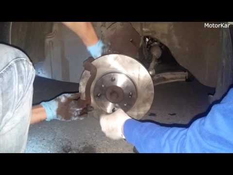 Замена тормозных колодок и дисков Nissan Almera 1.8 2006